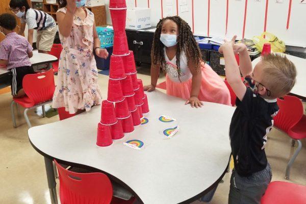 First Graders work together